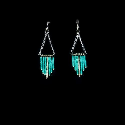 boho teal earrings