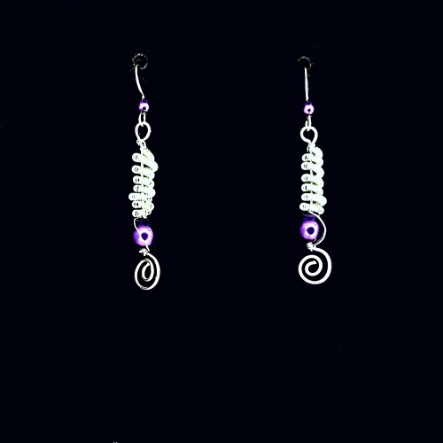 purple twist earrings